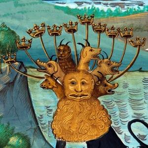 Beast of the Apocalypse Somme le Roi, Britanny 1464 BnF, Français 958, fol. 6v