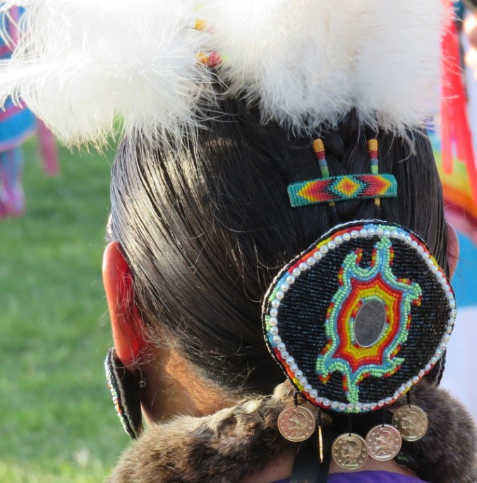 First Nations beadwork - public domain image