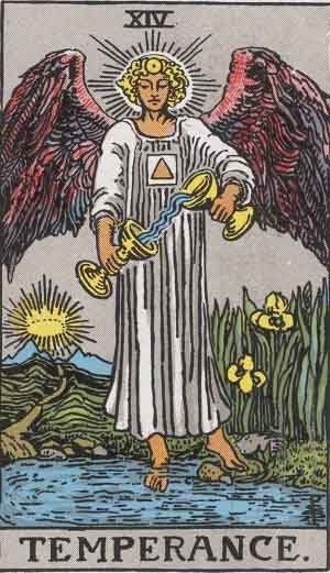 Colman-Smith_Tarot_14_Temperance