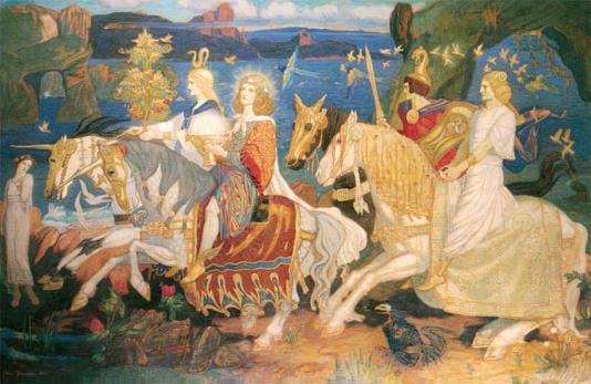 Riders of the Sidhe (1911), painting by John Duncan