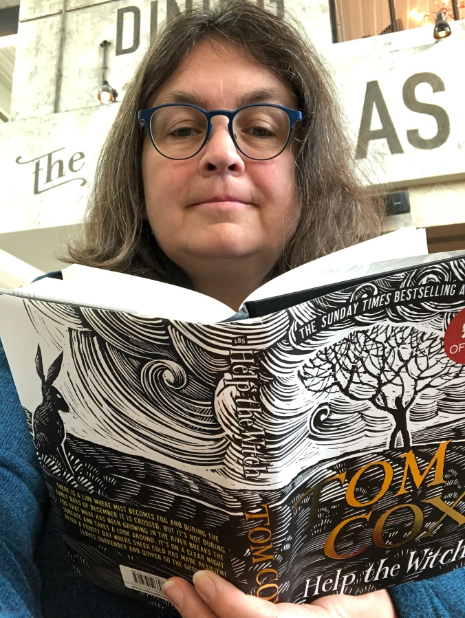 Me reading Help the Witch by Tom Cox