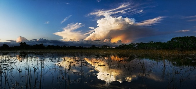 Storm clouds in the Everglades, by Skeeze [Public Domain image]