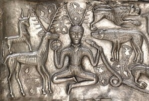 The horned god on the Gundestrup Cauldron
