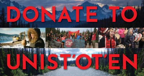 Donate to Unist'ot'en