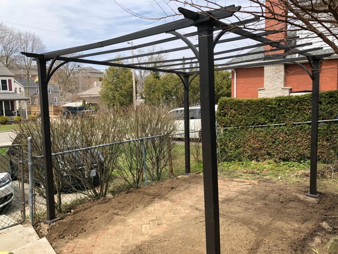Pergola which we are going to use as a greenhouse